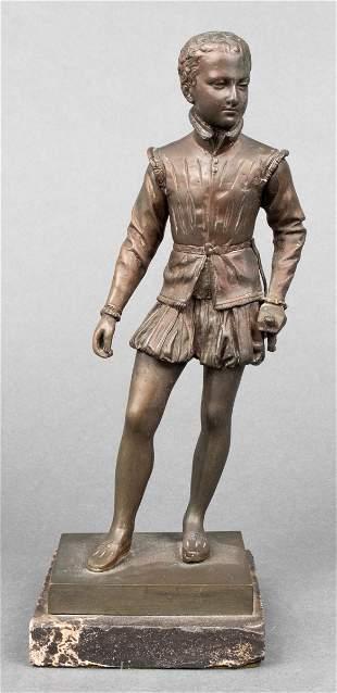 Bronze Figure Of A Young Tudor Gentleman