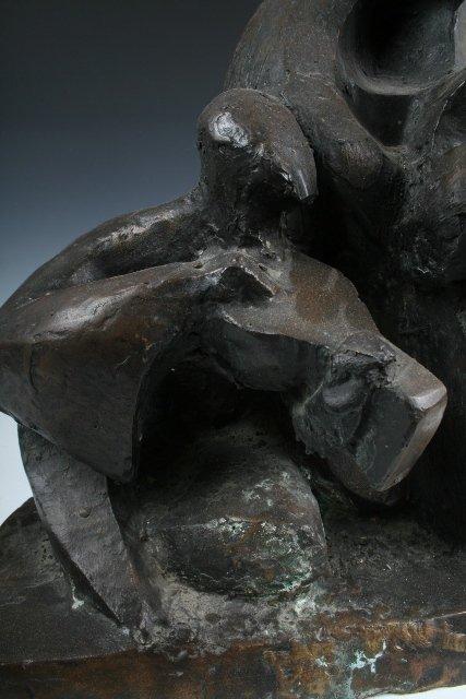 Israeli Bronze Sculpture of 3 Musicians 20th C. - 3