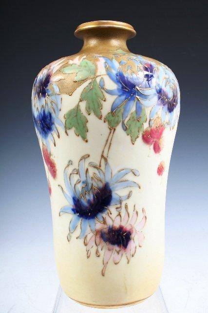 Turn-Teplitz Amphora Vase w/Flowers & Gilding