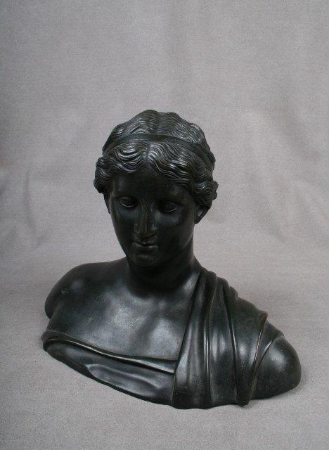 Italian Bronze Bust of Classical Woman ca. 1810