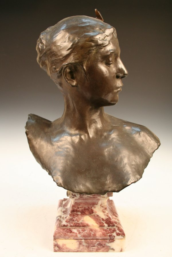 Bronze Sculpture Bust of Roman Goddess Diana