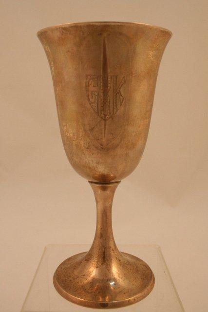 Gorham Sterling-Silver Chalice w/Monogram GRK