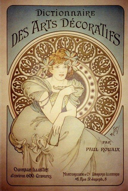 Rare Alphonse Mucha Fine Art Poster c. 1896