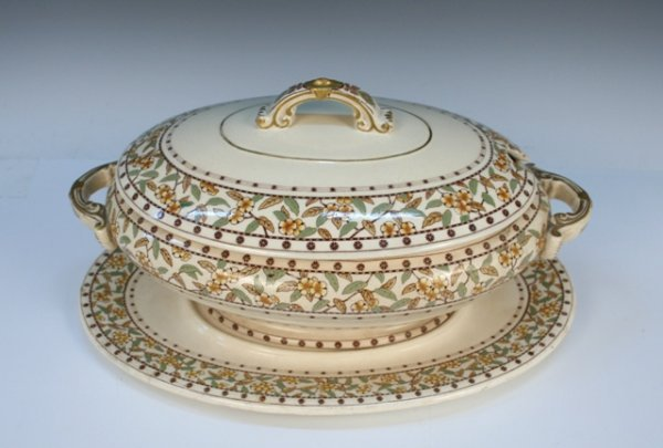 2: Brownfield & Sons Seringa Ceramic Tureen 19th C.