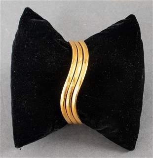 Three High Karat 22K Yellow Gold Bangle Bracelets