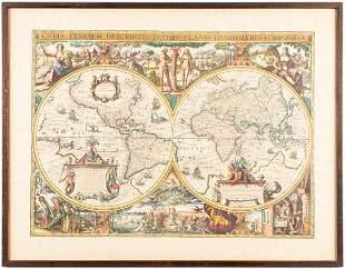 Van Geelkercken Orbis Terrarum Engraved Map