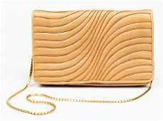 Judith Leiber Tan Leather Handbag