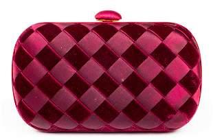 Bottega Veneta Woven Satin & Velvet Handbag