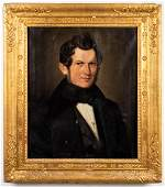 American School Portrait of a Gentleman, 19th C.