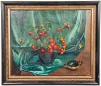 Frank Gervasi Still Life Oil on Canvas Board