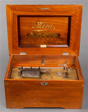 Antique Mira Disc Music Box