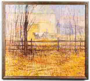 Leal Mack Western Landscape Oil on Canvas