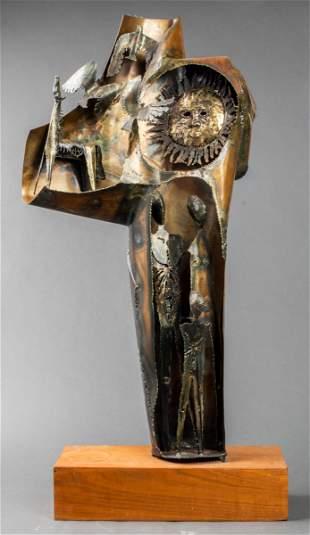 W. Boyle Signed Brutalist Welded Metal Sculpture