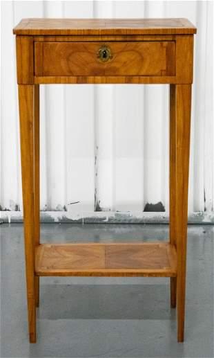 Louis XVI Provincial Style Walnut Side Table