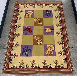 J. Pansu French Designer Throw Rug 6 x 4
