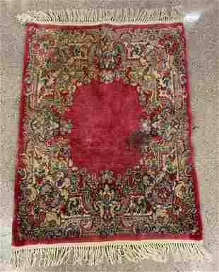 Vintage French Floral Pile Rug, 4 x 3