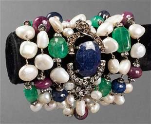 Iradj Moini Multi-Strand Gemstone & Pearl Bracelet