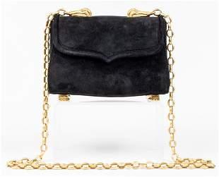 Kieselstein-Cord Black Velvet Trophy Handbag