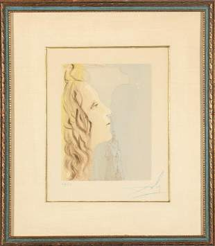 "Salvador Dali ""Divine Comedy"" Woodcut Print"