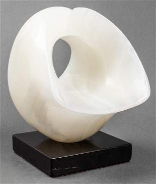 Modern Abstract Biomorphic Carved Onyx Sculpture