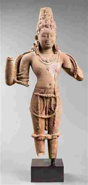 Indian Red Sandstone Vishnu, 11th / 12th Century