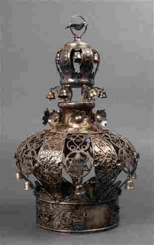 Judaica Sterling Silver Torah Crown