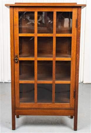 Stickley Oak Mission Bookcase Cabinet
