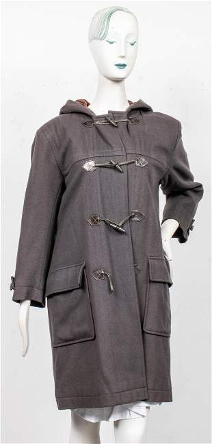 Yves Saint Laurent Rive Gauche Hooded Duffle Coat