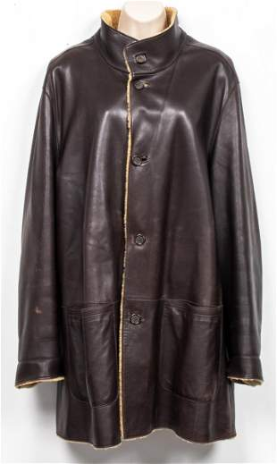 Ermenegildo Zegna Leather Shearling Coat