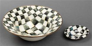 Mackenzie-Childs Courtly Check Enamel Bowls, 2