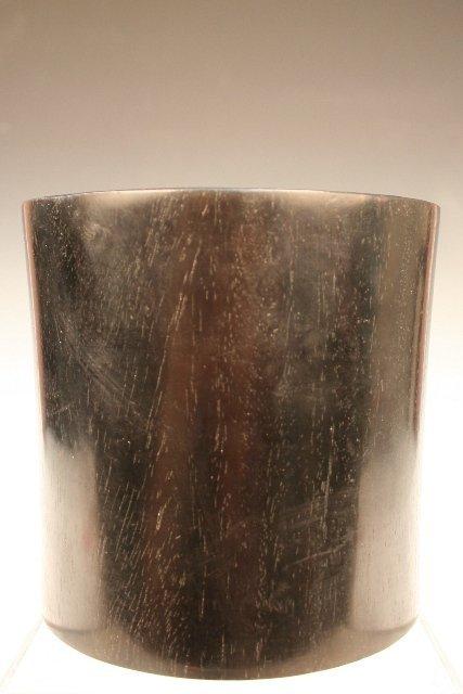 Chinese Zitan Wood Brush Pot 20th C.
