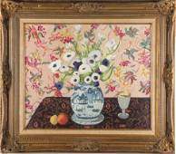 Still Life with Flowers Oil on Canvas