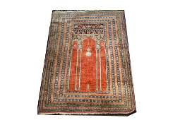 Turkish Silk Lantern Prayer Rug 2 9 x 4 6