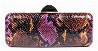 Judith Leiber Multicolor Python-Print Handbag