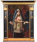 """Gyula Tornai """"The Moroccan Bride"""" Oil on Panel"""