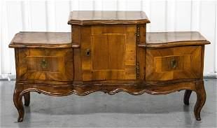 Italian Rococo Carved Walnut Cupboard
