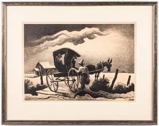 "Thomas Hart Benton ""Gateside"" Lithograph"