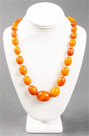 Vintage Natural Baltic Butterscotch Amber Necklace