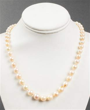 Vintage Graduated Cultured Pearl Necklace