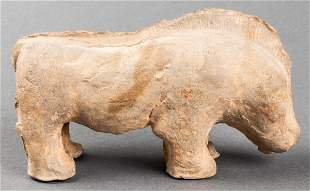 Chinese Han Dynasty Pottery Boar Figure