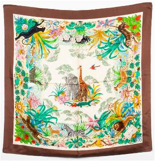 Gucci Silk 'The Jungle' Scarf