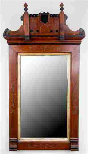 Aesthetic Carved Parcel Ebonized Mirror