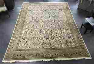 "Persian Pictorial ""The Hunt"" Wool Carpet, 15 x 11"