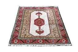 Turkish Village Carpet w Florals, 6' x 7'