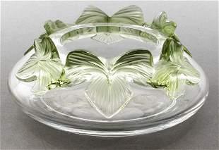 "Lalique ""Lierre"" Ivy Leaf Crystal Bowl"