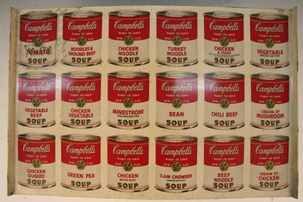 Autographed Warhol Campbell's Soup Serving Tray