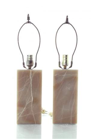 Mid-Century Modern Onyx Table Lamps