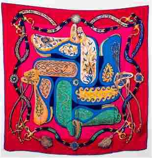 "Hermes ""Festival de Amazones"" Silk Blend Shawl"
