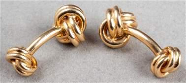 Tiffany & Co 18K Yellow Gold Double Knot Cufflinks