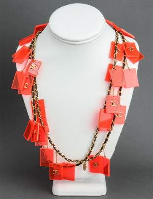 Chanel Runway Plexiglass Charm Necklace, c. 1987